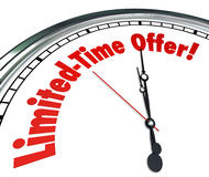 Händelse Dea för rensning för försäljning för besparing för inskränkt Tid erbjudandeklocka special Arkivbilder