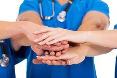Händer för medicinska doktorer tillsammans Royaltyfri Fotografi