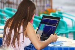 Händler bei der Arbeit Lizenzfreies Stockfoto