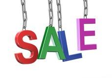 hängande text för försäljning 3d Arkivfoto