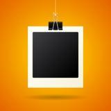 Hängende Retro- Fotokarte Lizenzfreies Stockfoto
