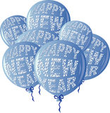 HNYBalloonsBlue Illustrazione Vettoriale