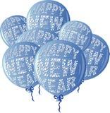 HNY Balloons Blue Stock Photo