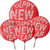 HNYBalloonsRed Royalty Free Stock Images