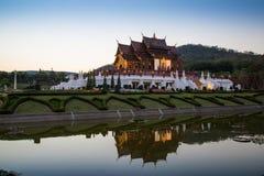 Ho西康省luang,皇家公园Rajapruek, Chiangmai,泰国 免版税库存照片