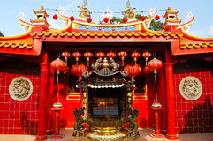 The Ho Ann Kiong Chinese Temple. Which was built in 1801 is located at China Town at Kuala Terengganu, Terengganu, Malaysia Stock Photo