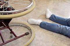 Ho avuto un incidente con la sedia a rotelle immagini stock libere da diritti