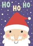 Ho ho ho cartão do Natal Imagens de Stock Royalty Free