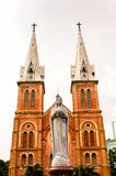 Ho Chi MIn, Vietnam. HO CHI MINH, VIETNAM - OCT 5, 2014: Saigon Notre Dame Basilica (Basilica of Our Lady of The Immaculate Conception) in Hochiminh (Saigon). It Royalty Free Stock Photos