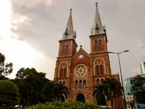 Ho Chi MIn, Vietnam. HO CHI MINH, VIETNAM - OCT 5, 2014: Saigon Notre Dame Basilica (Basilica of Our Lady of The Immaculate Conception) in Hochiminh (Saigon). It Stock Image