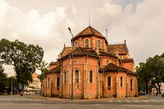Ho Chi MIn, Vietnam. HO CHI MINH, VIETNAM - OCT 5, 2014: Saigon Notre Dame Basilica (Basilica of Our Lady of The Immaculate Conception) in Hochiminh (Saigon). It Royalty Free Stock Photography