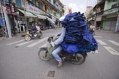 Ho Chi Minh - ζωή στα μηχανικά δίκυκλα Στοκ εικόνα με δικαίωμα ελεύθερης χρήσης