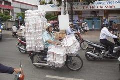 Ho Chi Minh - ζωή στα μηχανικά δίκυκλα Στοκ Εικόνα
