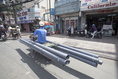 Ho Chi Minh - ζωή στα μηχανικά δίκυκλα Στοκ εικόνες με δικαίωμα ελεύθερης χρήσης