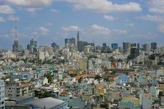 Ho Chi Minh η μεγαλύτερη πόλη στο Βιετνάμ Στοκ εικόνα με δικαίωμα ελεύθερης χρήσης