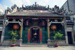 HO CHI MINH, ARILLO 03 2016 - tempio di Thien Hau, Chinatown Saigon, Vietnam, Asia Pacific Fotografia Stock Libera da Diritti