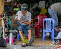 Street workshop Vietnam Ho Chi Minh City royalty free stock photos