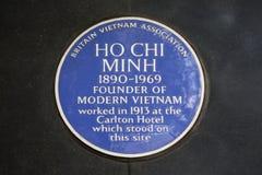 Ho Chi Minh Błękitna plakieta w Londyn Zdjęcia Stock