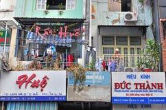 Ho Chi Minh balconys Arkivbild