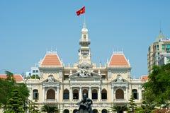 Ho Chi Minh Building en Vietnam Imagen de archivo libre de regalías