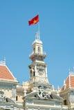 Ho Chi Minh Building i Vietnam Arkivbild