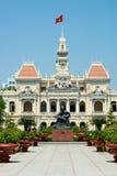 Ho Chi Minh Building i Vietnam Fotografering för Bildbyråer