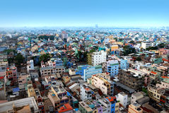 Ho Chi Minh City. High view on Ho Chi Minh City, Vietnam Royalty Free Stock Photography