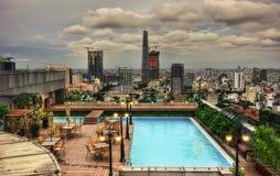 Ho Chi Minh City Aerial Foto de archivo libre de regalías