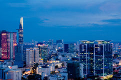 Ho Chi Minh City on the afternoon. Bitexco building, Ho Chi Minh City, Viet Nam in the afternoon view from above of the great and beautiful Royalty Free Stock Image