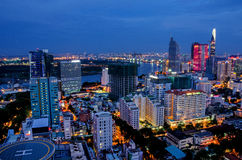 Ho Chi Minh City on the afternoon Stock Photography