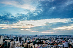 Ho Chi Minh City on the afternoon high. Ho Chi Minh City, Viet Nam in the afternoon view from above of the great and beautiful stock photography