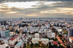 Ho Chi Minh City on the afternoon Royalty Free Stock Photo
