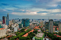 Ho Chi Minh City on the afternoon. Ho Chi Minh City, Viet Nam in the afternoon view from above of the great and beautiful, Bitexco distance is the highest royalty free stock images