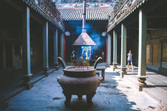 HO CHI MINH CITY, ARIL 03 2016 - Thien Hau Temple, Chinatown Saigon, Vietnam, Asia Pacific Royalty Free Stock Photos