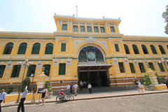 Ho Chi Minh City Central Post Office in Vietnam Stock Photos