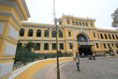 Ho Chi Minh City Central Post Office in Vietnam Royalty Free Stock Photos