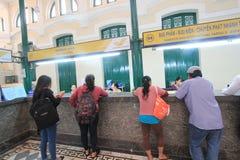 Ho Chi Minh City Central stolpe - kontor i Vietnam Arkivbilder