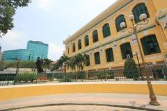 Ho Chi Minh City Central stolpe - kontor i Vietnam Arkivfoton