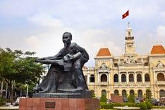 Ho Chi Minh City Hall eller Hotell de Ville de Saigon, Vietnam. Arkivbild