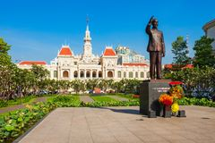 Ho Chi Minh City Hall. Or Saigon City Hall or Committee Head office is a building in a French colonial style in Ho Chi Minh, Vietnam stock image
