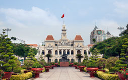 Ho Chi Minh City Hall or Hotel de Ville de Saigon, Vietnam. stock images