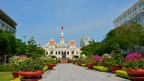 Ho Chi Minh City Hall i Saigon Arkivfoto