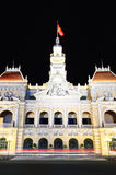 Ho Chi Minh City Hall at night Stock Photo