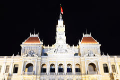 Ho Chi Minh City Hall at night Stock Photography