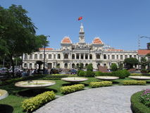 Ho Chi Minh City Hall (saigon) Royaltyfria Bilder