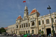 Ho Chi Minh City Hall in Saigon Royalty Free Stock Photos