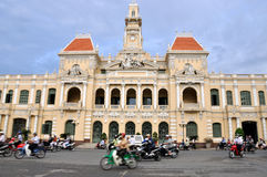 Ho Chi Minh City Hall and street view, VietNam Stock Image