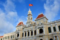 Ho Chi Minh City Hall, 2016 VietNam Royalty Free Stock Photo