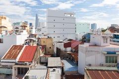 Ho Chi Minh City horisont, Vietnam Arkivfoton