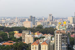 Ho Chi Minh city landscape. Ho Chi Minh City has the most dynamic economy in Vietnam Royalty Free Stock Photography